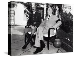 President Franklin Roosevelt Photographed with French General Henri Honore Giraud, Jan. 1943