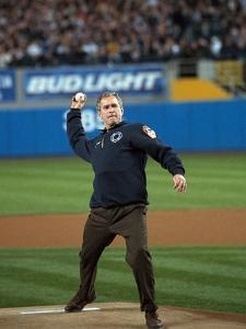 President George W. Bush Throws the Ceremonial First Pitch at Yankee Stadium