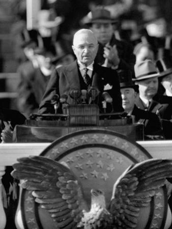 President Harry S. Truman Delivers Inaugural Address from Capitol Portico, January 20, 1949