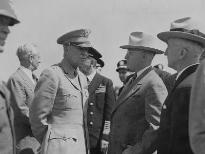President Harry Truman and General Dwight Eisenhower Enroute to the Potsdam Conference--Photo