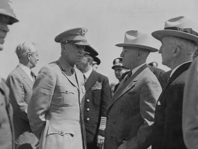 President Harry Truman and General Dwight Eisenhower Enroute to the Potsdam Conference