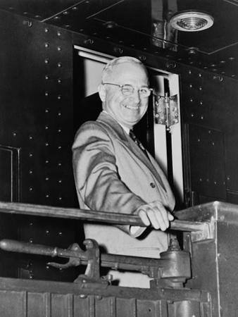 President Harry Truman During His Whistle Stop Campaign in 1948