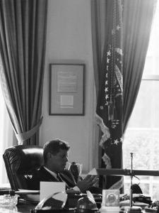 President John F. Kennedy in the Oval Office During the Steel Crisis