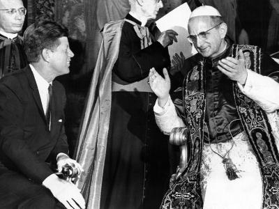 President John Kennedy and Pope Paul VI in Conversation--Photo