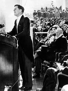 President John Kennedy Delivering His Inaugural Address
