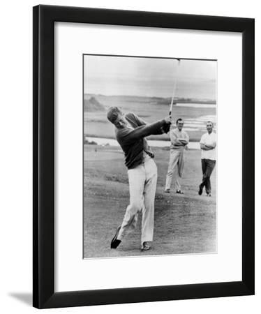 President John Kennedy Playing Golf at Hyannis Port. July 20, 1963--Framed Photo