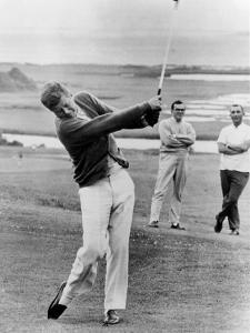 President John Kennedy Playing Golf at Hyannis Port. July 20, 1963