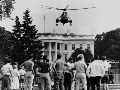 President John Kennedy's New Helicopter Takes Off from the South Lawn--Photo