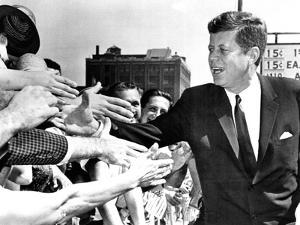 President John Kennedy Shakes Hands as He Arrives at Independence Hall, July 4, 1962