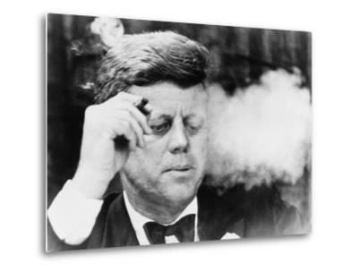 President John Kennedy, Smoking a Cigar at a Democratic Fundraiser, Oct. 19, 1963