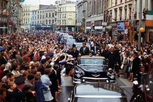 President Kennedy Is Cheered by the Citizens of Dublin, Ireland, Aug. 28, 1963