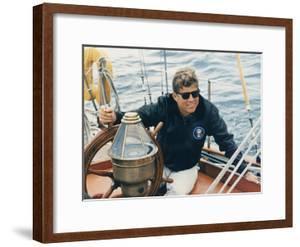 President Kennedy Sailing Aboard US Coast Guard Yacht 'Manitou', Rhode Island, 1962