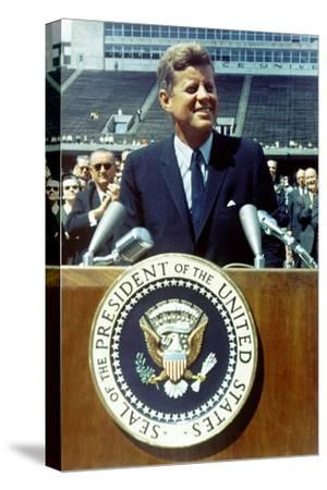 President Kennedy Speaking at Rice University, Sept. 9, 1962