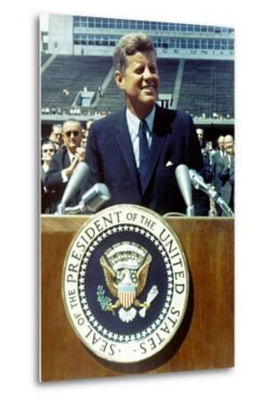 President Kennedy Speaking at Rice University, Sept. 9, 1962