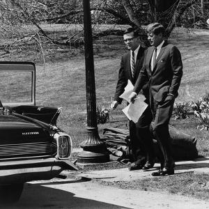 President Kennedy with Theodore Sorensen, His Advisor and Speech Writer, March 1963