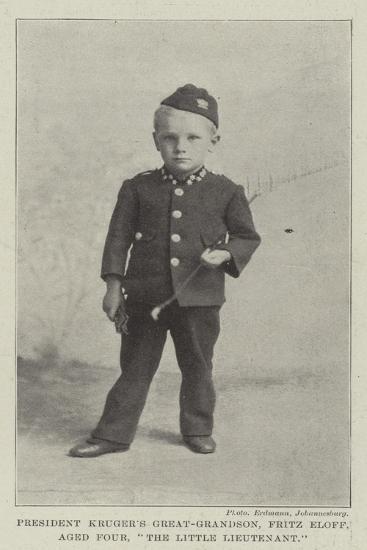 President Kruger's Great-Grandson, Fritz Eloff, Aged Four, The Little Lieutenant--Giclee Print