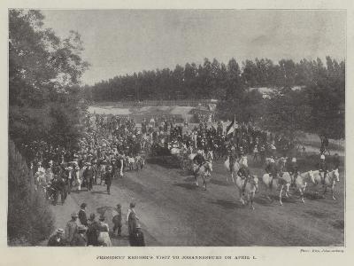 President Kruger's Visit to Johannesburg on 1 April--Giclee Print