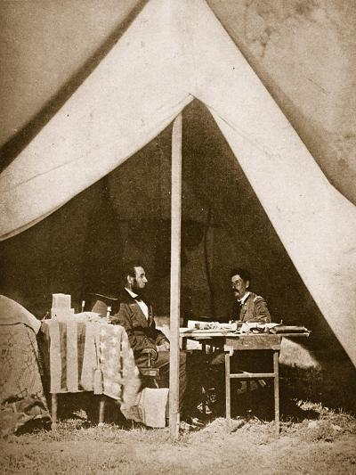 President Lincoln and General Mclellan in Mclellan's Tent, Antietam, 4th October, 1862-Mathew Brady-Giclee Print