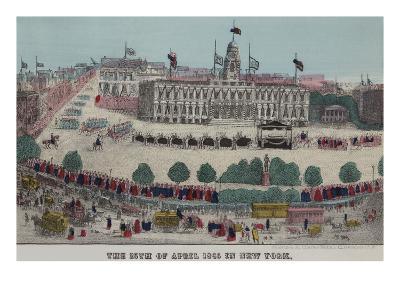 President Lincoln's Funeral Cortege--Art Print