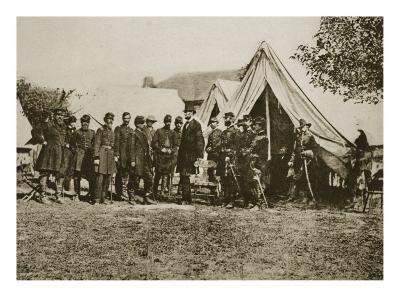 President Lincoln Visiting the Camp at Antietam, 1892-Mathew Brady-Giclee Print