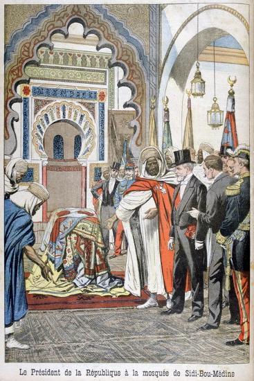 President Loubet Visiting the Mosque of Sidi Bou Medine, Tlemcen, Algeria, 1903--Giclee Print