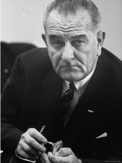 President Lyndon B. Johnson-Stan Wayman-Photographic Print