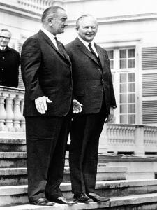 President Lyndon Johnson and West German Chancellor, Kurt Georg Kiesinger, April 24, 1967