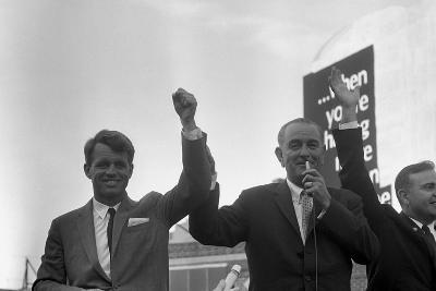 President Lyndon Johnson Campaigning with Robert Kennedy-Stocktrek Images-Photographic Print