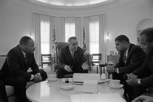President Lyndon Johnson Meets with Civil Rights Leaders in Jan. 18, 1964