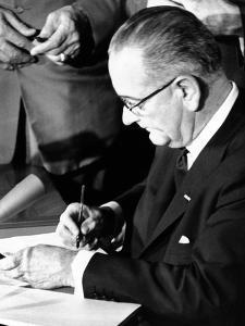 President Lyndon Johnson Signing the 1964 Civil Rights Bill, July 2, 1964