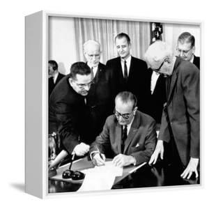 President Lyndon Johnson Signs the 24th Amendment to the Constitution