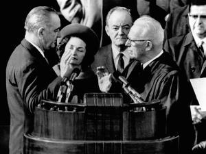 President Lyndon Johnson Takes the Oath of Office at His 1964 Inauguration