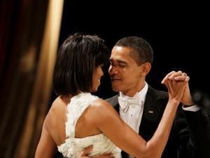 President Obama and First Lady Michelle Obama Dance at the Midwest Inaugural Ball, January 20, 2009