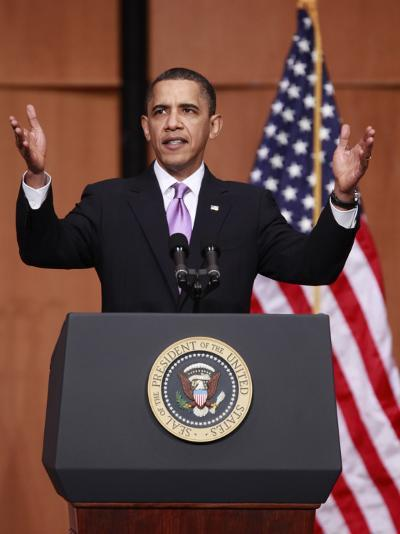 President Obama Speaks before Signing the Health Care and Education Reconciliation Act of 2010--Photographic Print