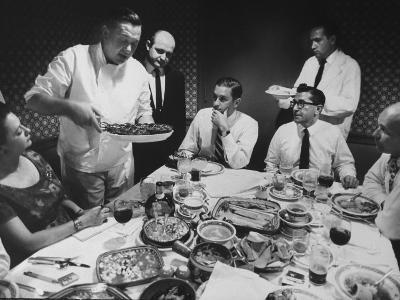 President of Restaurant Associates Jerome Brody at La Fonda Del Sol Restaurant-Yale Joel-Photographic Print
