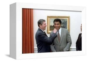 President Reagan 'Punching' Muhammad Ali in the Oval Office, Jan. 24, 1983