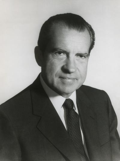President Richard Nixon in His First Term Official Portrait, 1969--Photo
