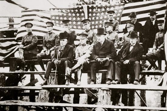 President Warren G Harding at a baseball park, Fort Benning, Georgia, USA, early 1920s-Unknown-Photographic Print