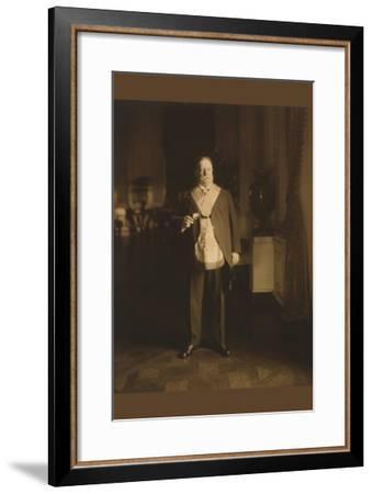 President William Howard Taft In Masonic Regalia--Framed Art Print