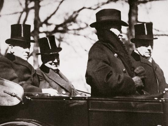 Presidents Wilson and Harding travelling to the Capitol, Washington DC, USA, 1921-Unknown-Photographic Print