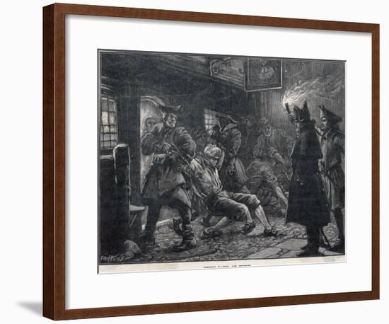 Press-Gang at Work-Paul Hardy-Framed Giclee Print