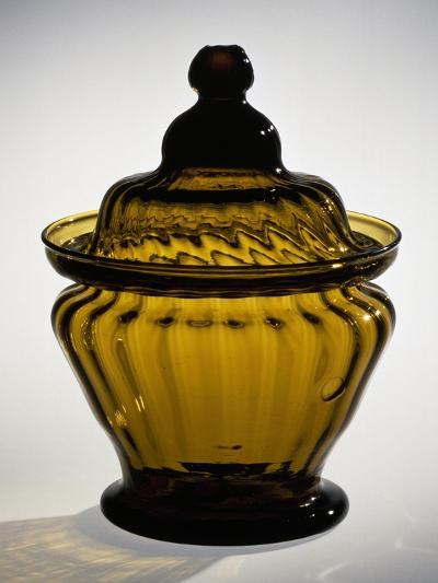 Pressed Glass Sugar Bowl, Possibly Zanesville Glass Works, Ohio, 1815-183--Giclee Print