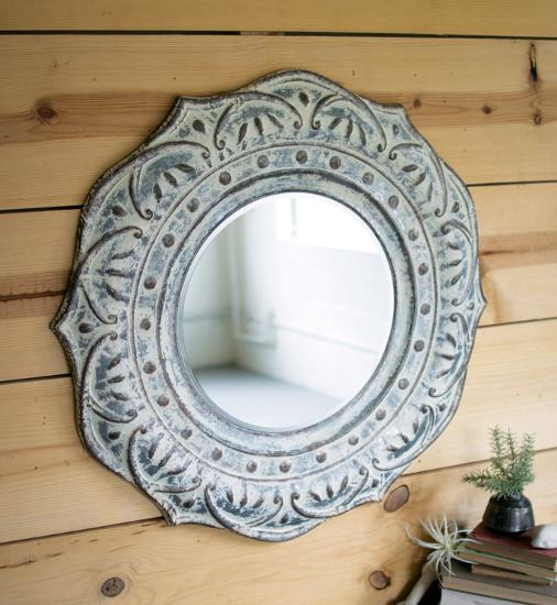 Pressed Petals Wall Mirror--Home Accessories