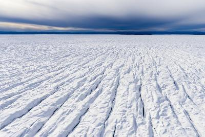Pressure Ridges and Crevasse Scar the Surface of a Glacier on the Greenland Ice Sheet-Jason Edwards-Photographic Print