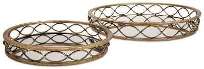 Prestco Mirror Tray - Set Of 2--Home Accessories