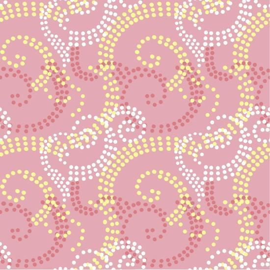 Pretty and Pink-Swirl dot coordinate-Julie Goonan-Giclee Print