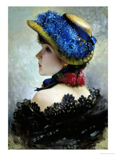 Pretty as a Picture-Vittorio Corcos-Giclee Print