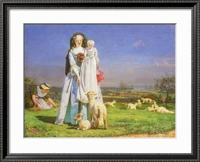 Pretty Baa Lambs 1851 Giclee Print Ford Madox Brown Art Com