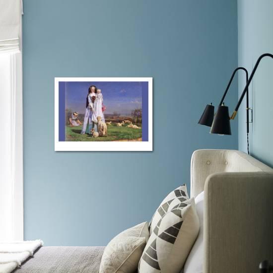 Pretty Baa Lambs Art Print Ford Madox Brown Art Com