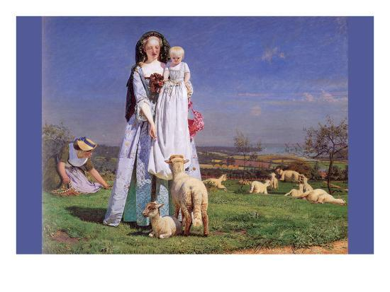 Pretty Baa Lambs Art Print Ford Madox Brown Art Com